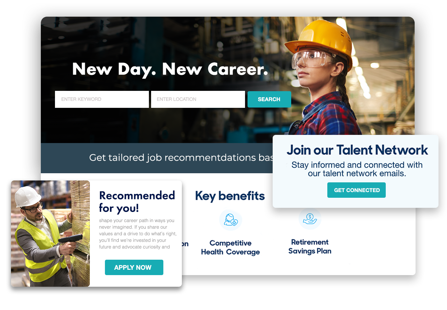 personalized career site
