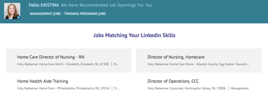 Holy Redeemer LinkedIn Integration