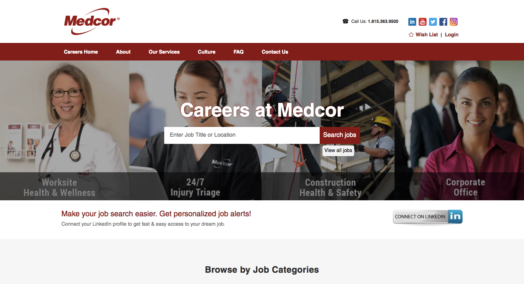 Medcor has a new career site with Phenom People