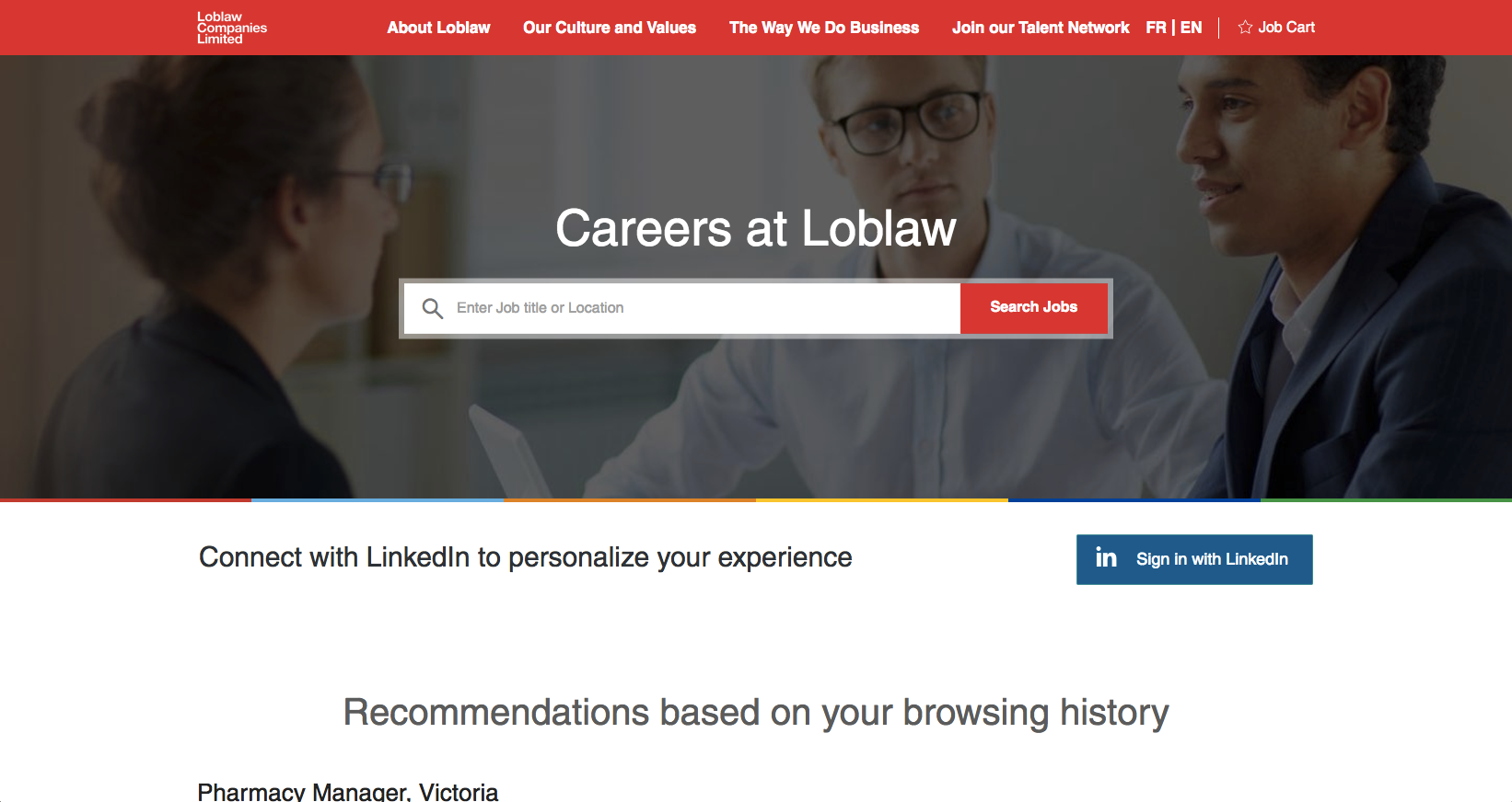 Loblaw Companies Limited career site is powered by Phenom People