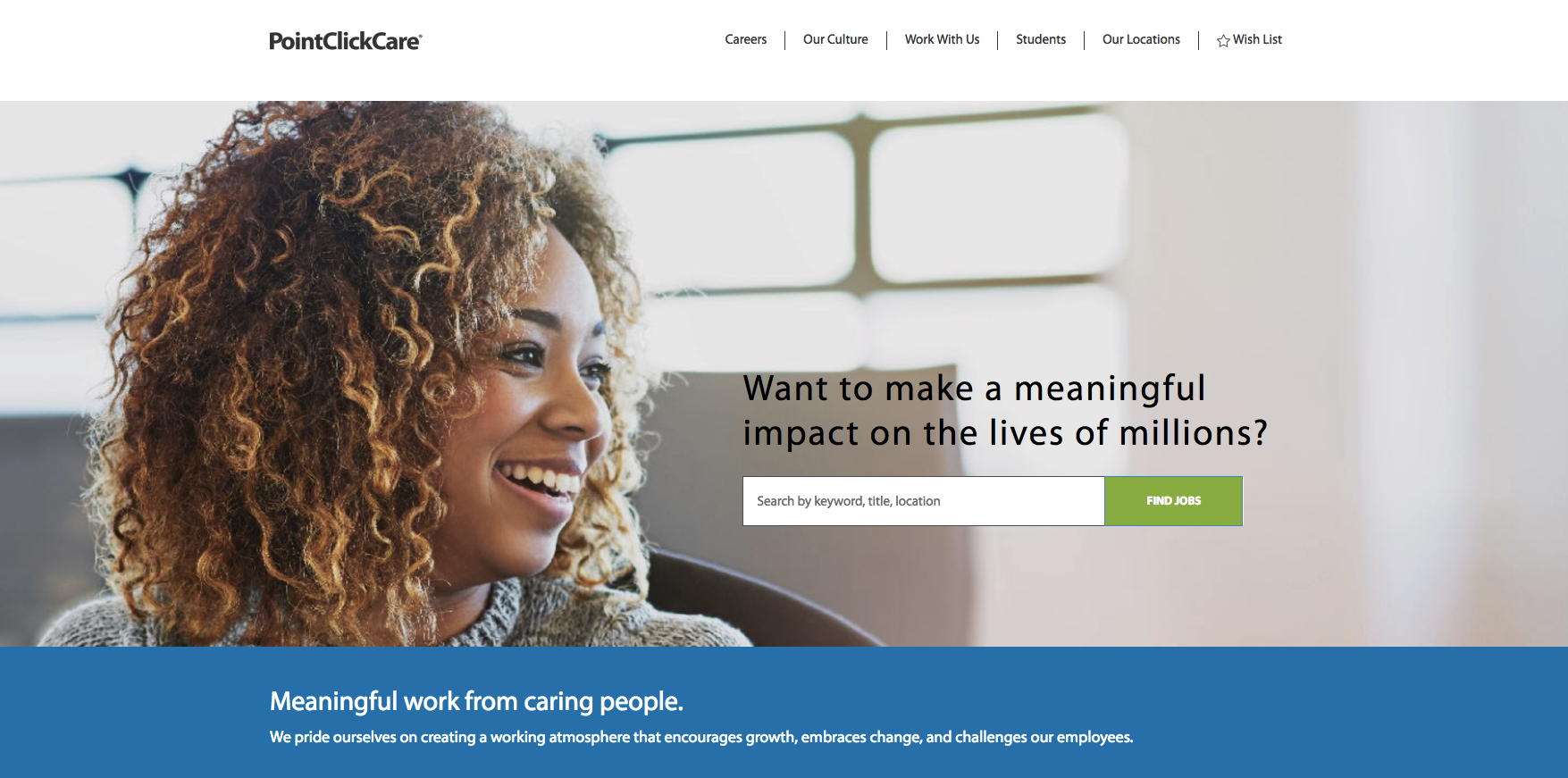 PointClickCare's career site powered by Phenom People