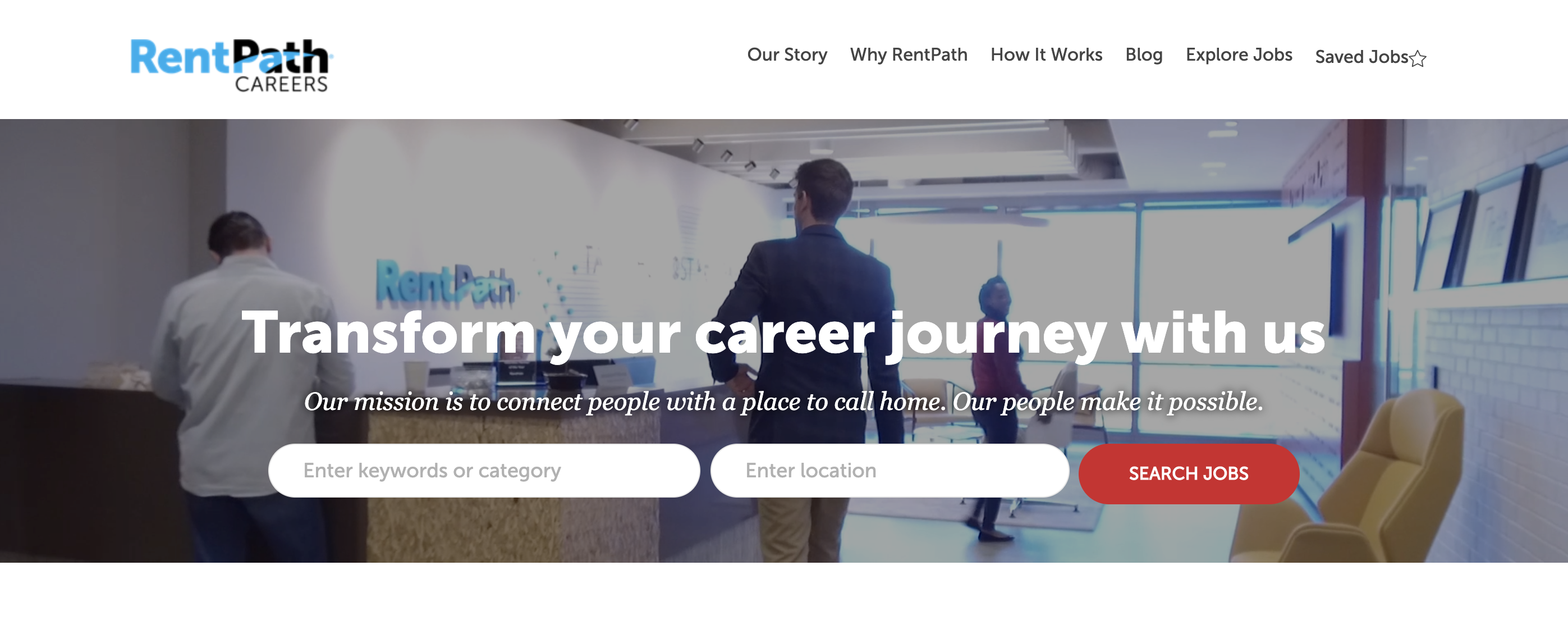 RentPath career site's homepage