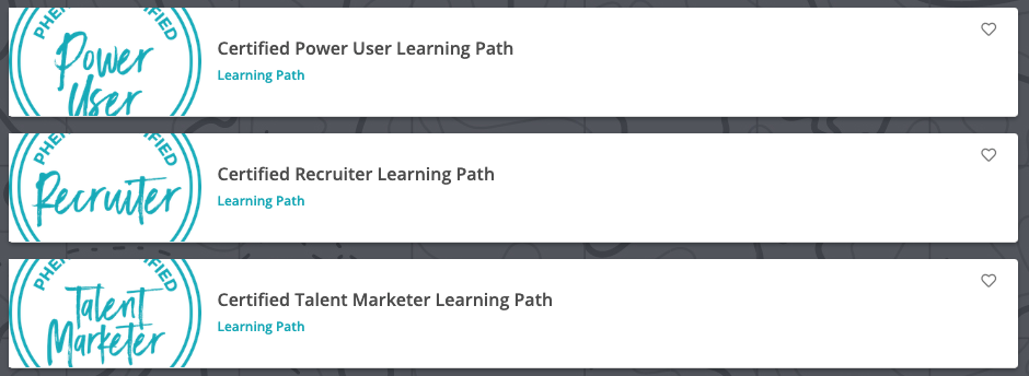Phenom People Certification Learning Paths